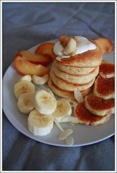 Dessert Recipes, Desserts, Pancakes, Good Food, Healthy Eating, Cooking Recipes, Sweets, Baking, Breakfast