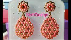 Crochet Beaded Bracelets, Beaded Earrings Patterns, Beaded Tassel Earrings, Seed Bead Earrings, Diy Earrings, Beading Patterns, Making Bracelets With Beads, Tatting Jewelry, Earring Tutorial