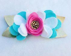 Felt Rosette Headbands/Easter headbands/Spring Headbands/Summer…