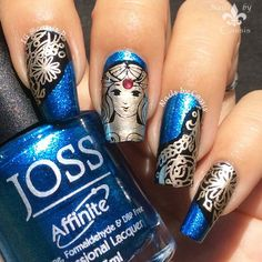 Nails by Cassis: Atlantean Goddess Mani Featuring Messy Mansion MM67