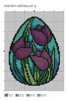 Cross Stitch Bookmarks, Cross Stitch Charts, Cross Stitch Designs, Cross Stitch Patterns, Square Patterns, Loom Patterns, Cross Stitching, Cross Stitch Embroidery, Easter Cross