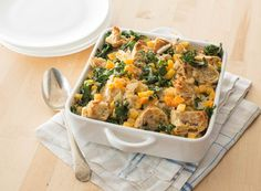 Savory Bread Pudding with Kale and Butternut Squash #veggies #grains #protein #dairy #MyPlate #WhatsCooking