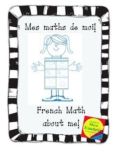 Mes Maths de Moi - French Math about Me. Math Addition, Addition And Subtraction, All About Me Maths, About Me Questions, This Or That Questions, All About Me Poster, French Numbers, Math Sheets, School Today
