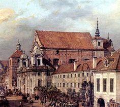 Canaletto Warsaw Church of Santa Anna / Kościół św. Anny na obrazie Canaletto