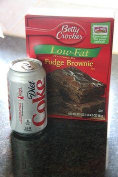 Diet coke brownies, 115 calories a brownie!