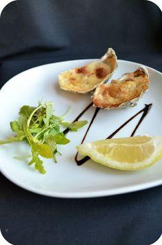 Huîtres gratinées au parmesan