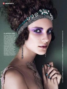 Martyna Frankow by Mikael Schulz for Glamour Germany June 2013 purple eyeshadow