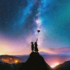 Photo Expert Creates Dreamy Fairytale Images of Animals in Unexpected Environments Couple Wallpaper, Love Wallpaper, Galaxy Wallpaper, Wallpaper Space, Black Wallpaper, Cute Wallpaper Backgrounds, Cute Wallpapers, Love Images, Beautiful Images