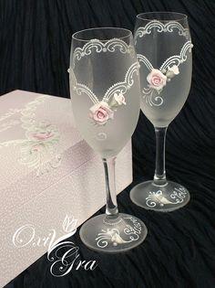 #oxigra #reczniemalowane #pudelko #szkatulka #nakoperty #slub #wesele #prezentslubny #handpainted #rose #roza #ornament #szklo #kieliszki #glass #wedding