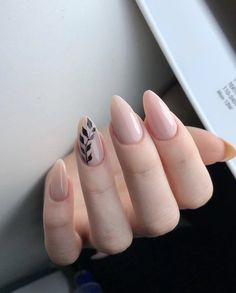 Nail art Christmas - the festive spirit on the nails. Over 70 creative ideas and tutorials - My Nails Oval Nails, Toe Nails, Pink Nails, Almond Acrylic Nails, Best Acrylic Nails, Nagellack Design, Bride Nails, Dipped Nails, Minimalist Nails