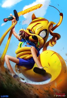 Jake the Snake - Adventure Time - by DanLuVisiArt on deviantART