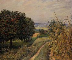 Among the Vines near Louveciennes, 1874. By Alfred Sisley.