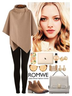 """Romwe 4"" by amra-f ❤ liked on Polyvore featuring Topshop, Linda Farrow, Forever 21, ASOS, Brooks Brothers, Kelly Wearstler, romwe, 5sos and beige"