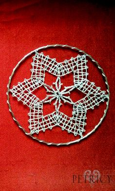 When bobbin lace is used for making Christmas ornaments. And your home is charmingly glowing in all its glory. Christmas Ornaments To Make, Christmas Decorations, Bobbin Lace Patterns, Snowflake Pattern, Lace Making, Wedding Art, Lace Design, Art Education, Fabric Crafts