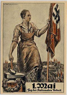 Propagandakarte zum 1. Mai 1934