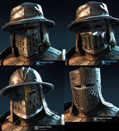 For Honor Conqueror Helmets Medieval Weapons, Medieval Knight, Medieval Fantasy, Armadura Medieval, Fantasy Armor, Dark Fantasy, Armor Concept, Concept Art, For Honor Viking