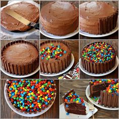 Chocolate y m&m's cake