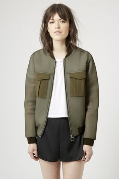 This is mine. Has to be mine.  Utility Airtex Bomber Jacket - New In This Week - New In - Topshop