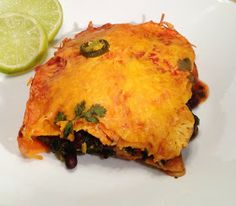 Attack of the Hungry Monster: Veggie Enchilada Stacks {Low Carb, Vegetarian, Healthy}