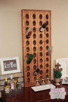 diy wine riddling rack, how to, storage ideas, wall decor