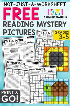 FREE Reading Strategies with Mystery Pictures