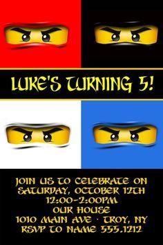 Lego Ninjago Birthday Party Invitation by CollarCityCrafts on Etsy, $6.00