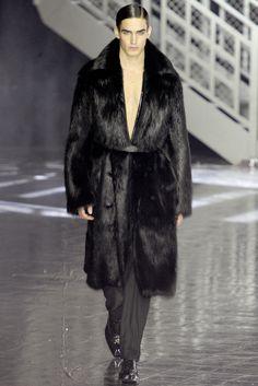 Winter Fur Fashion for Men. John Galliano Fall/Winter 2012/2013