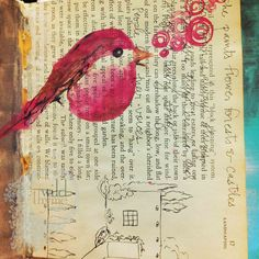 Yumminess from Betsy Cañas Garmon, my focus for August's Journal Fresh at http://www.createmixedmedia.com