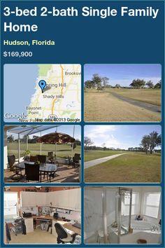 3-bed 2-bath Single Family Home in Hudson, Florida ►$169,900 #PropertyForSale #RealEstate #Florida
