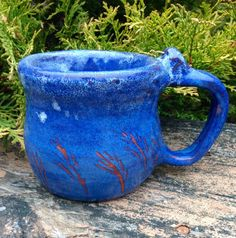 Hand Thrown Pottery Mug by TheFathersMarket on Etsy, $14.99