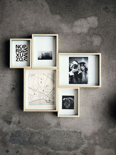 tightly arranged framed grouping