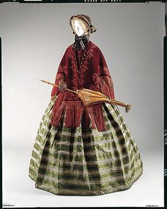 """Mantle, 1848-53, American, silk, length at center back: 31""""; gift of Mrs. Henry A. Lozier, 1948"""