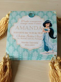 Convite festa jasmine