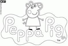 Desenhos, para colorir, Peppa Pig, pintar, imprimir, brincar, porquinha, rosa, crianças