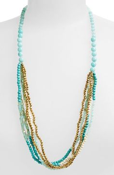 Free shipping and returns on Panacea Howlite Multi Strand Necklace at Nordstrom.com. Polished howlite, sparkling quartz and gleaming brass bring statement-making sophistication to a long multistrand necklace.