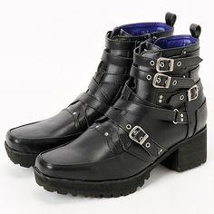 ブーツ(ユニセックスサイズ ベルトデザインブーツ)   ヨースケ(YOYOブランド)(YOSUKE YOYO Brand)   ファッション通販 マルイウェブチャネル[WW725-615-19-01]
