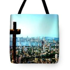 Tote Bag - Stone Cross In Cartagena Colombia
