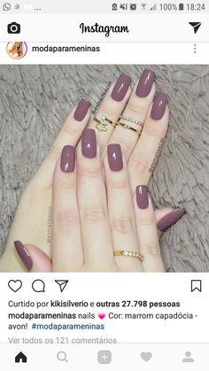 Sexy Nails, Trendy Nails, Cute Nails, Nail Paint Shades, Pretty Nail Colors, Bride Nails, Artificial Nails, Nail Polish Colors, Gorgeous Nails