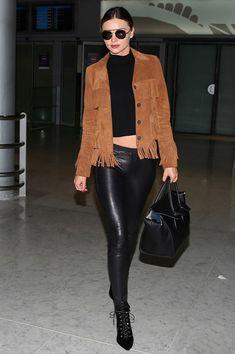 miranda-kerr-style-airport-suede-fringe-jacket-leather-pants
