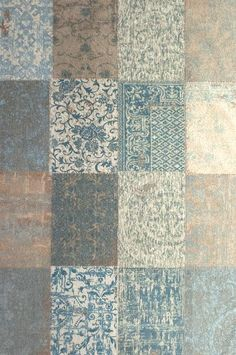 Cameo Collection Multi Gustavian Blue 8237 Cement Art, Wall Of Fame, Rugs On Carpet, Carpets, Home Wallpaper, Elements Of Art, Living Room Kitchen, Feng Shui, Interior Inspiration