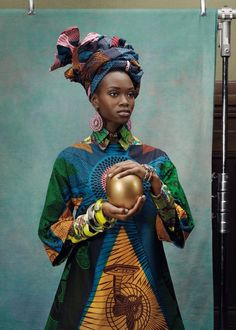 "sirensongfashion:  ""Hommage à l'Art"" by Vlisco //Photography: Koen Hauser //Stylist: Maarten Spruyt"