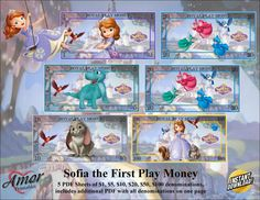 Play Money Sofia the First by AmorPrintables on Etsy Diy Eid Cards, Printable Play Money, Monopoly Money, Kids Rewards, Food Carts, Sofia The First, Party Favor Bags, Disney Wallpaper, Party Printables