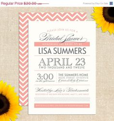 Bridal Shower Invitation DIY Printable