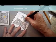Inkidoodles.com  Melinda Barlow CZT : 5C Aura Tangle Lesson Pattern #168