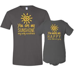 You Are My Sunshine Mother TShirt Son / Daughter by meandmy3boys, $37.50