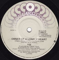 Yes - Owner Of A Lonely Heart (Vinyl) at Discogs