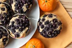 blueberry orange muffins  | peas and thank you