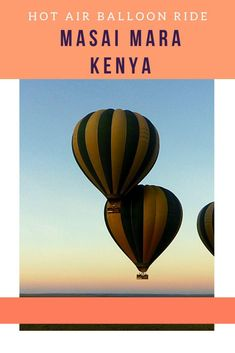 One of the best bucket list things to do in Kenya is take a hot air balloon ride over the Masai Mara! See the great migration from a new angle and see the beauty of the world! Air Balloon Rides, Hot Air Balloon, Best Bucket List, The Great Migration, Kenya Travel, Things To Do, Balloons, Beauty, Things To Make
