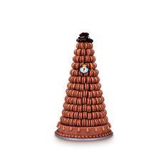 "Ladurée's ""Marie Antoinette"" marquis du chocolat is an elegant alternative to a traditional wedding cake"