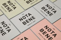 Brand identity and business cards for Toronto restaurant Nota Bene by graphic design studio Blok. #restaurant